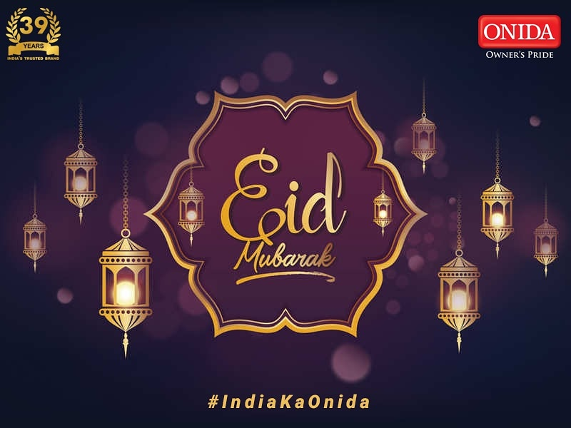 May this day bring the brightest of colours of love, laughter and happiness in your life. Here's wishing you and your family, Eid Mubarak! #Onida #EidMubarak https://t.co/SuEIc4v8KE