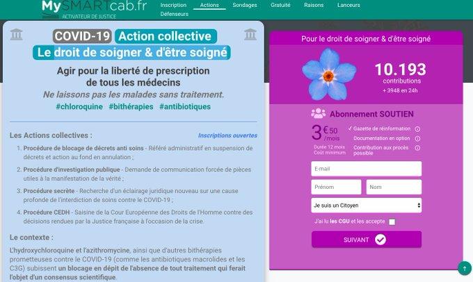 Action Le droit de soigner et d'être soigné - Annonce 10 000 inscrits