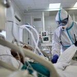 Image for the Tweet beginning: Russia's coronavirus infections pass 350,000
