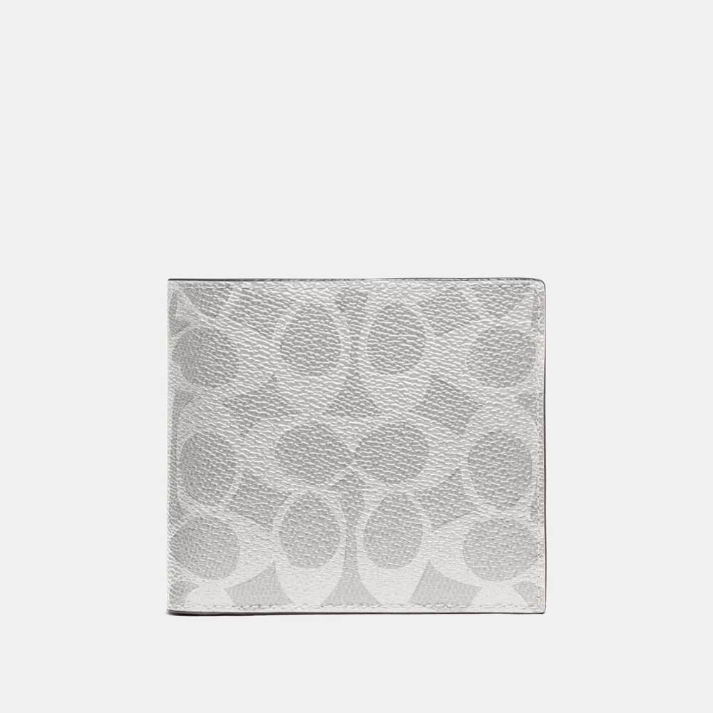 """コーチのメンズ財布、折り紙のような""""ミニ財布""""やシグネチャーキャンバスの二つ折りウォレット -"""
