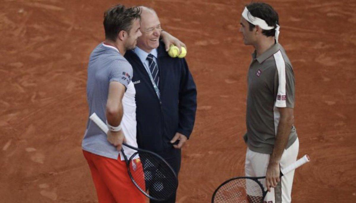throwback Roland Garros 2019 I miss you guys  #federer #wawrinka #tennis #rolandgarrospic.twitter.com/O3wyvJSXtS