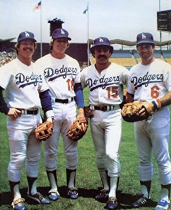 Dodger Infield of the 1970s, Ron Cey, Bill Russell, Davey Lopes and Steve Garvey #Dodgers #MLB #Baseball https://t.co/yvUAXFYkvs