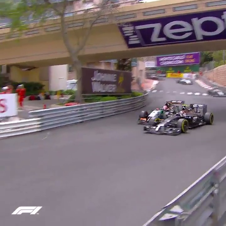 You don't see a lot of overtakes there!  Gg, @HulkHulkenberg 👏  #MonacoGP 🇲🇨 #F1