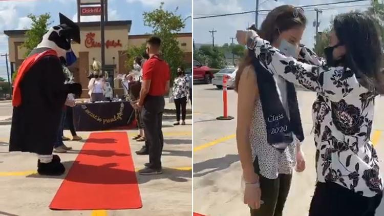 Texas Chick-fil-A hosts its own high school graduation for employees bit.ly/3bXaLfD