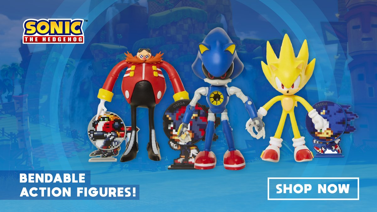 Sega Shop On Twitter Sonic The Hedgehog 4 Bendable Action Figures Now Available