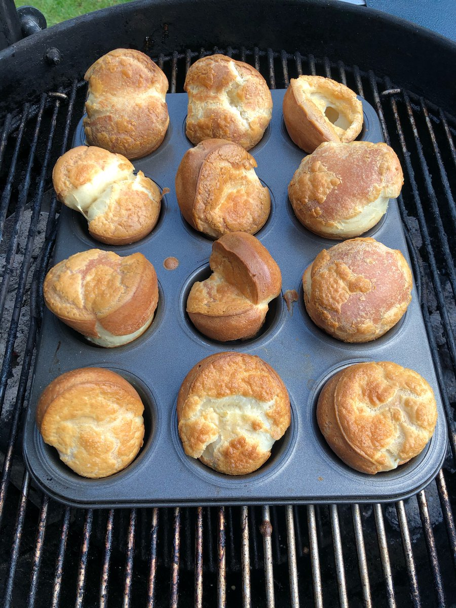 Yorkies on a @webergrills came out perfectly!  #SundayLunch <br>http://pic.twitter.com/ljU3y2FR0W