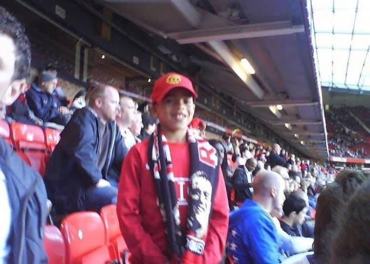 A young Mason Greenwood at Old Trafford https://t.co/xqQUNV98MP