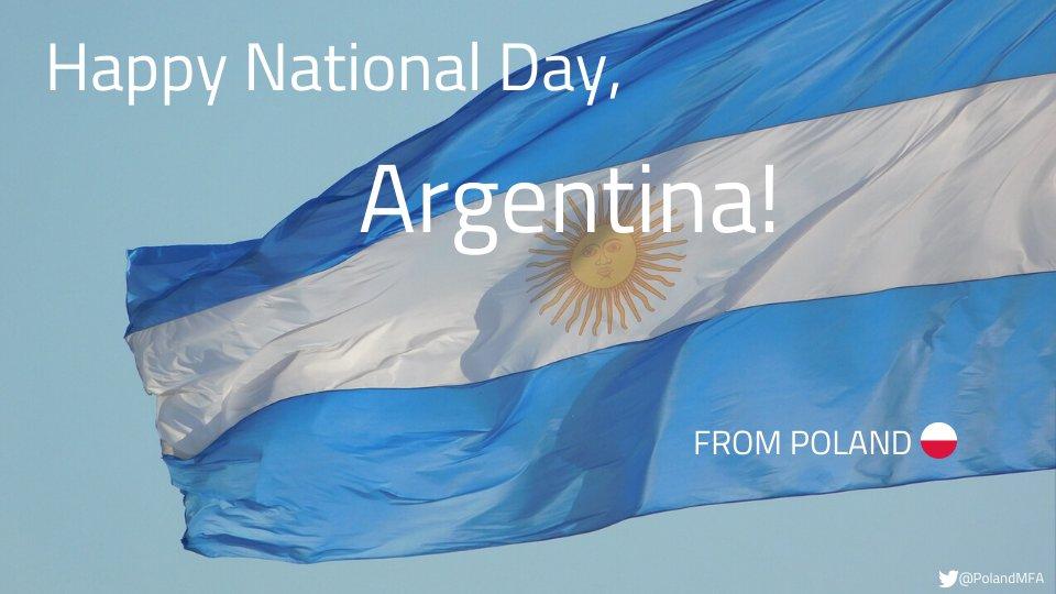 Dear Friends from #Argentina , happy National Day from #Poland !  #25DeMayo #FelizDíaDeLaPatria #RevolucióndeMayopic.twitter.com/hQER7ZEUmA