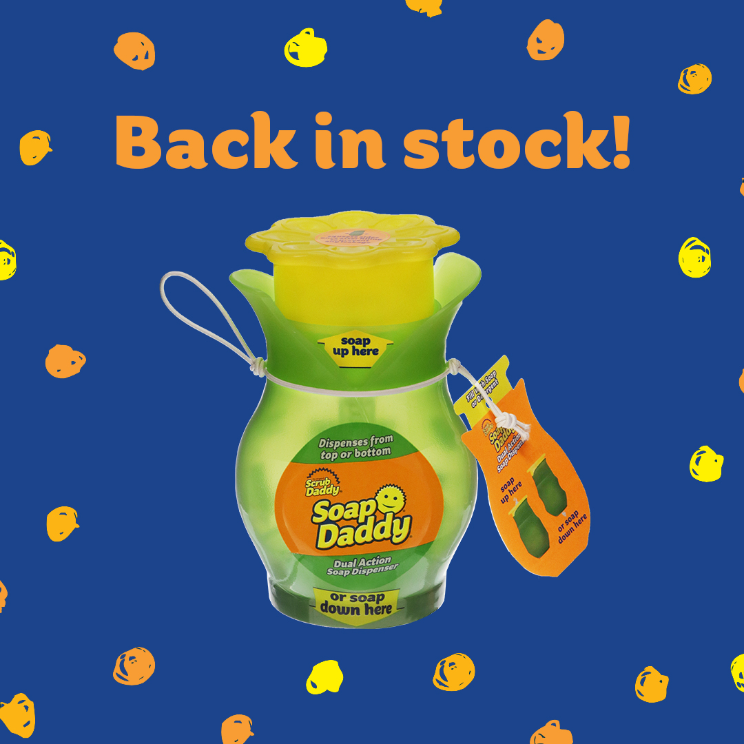 Look who's back, back again  we know we've kept you waiting for this one, so we're pleased to finally announce our dual soap dispenser is back in stock and available to shop now! Shop https://packingsorted.co.uk/product/scrub-daddy-soap-daddy-soap-dispenser/… #SoapDaddy #ScrubDaddy #BackInStock #Hinchers #Hinching #Reusablepic.twitter.com/KmFEOyhjMV