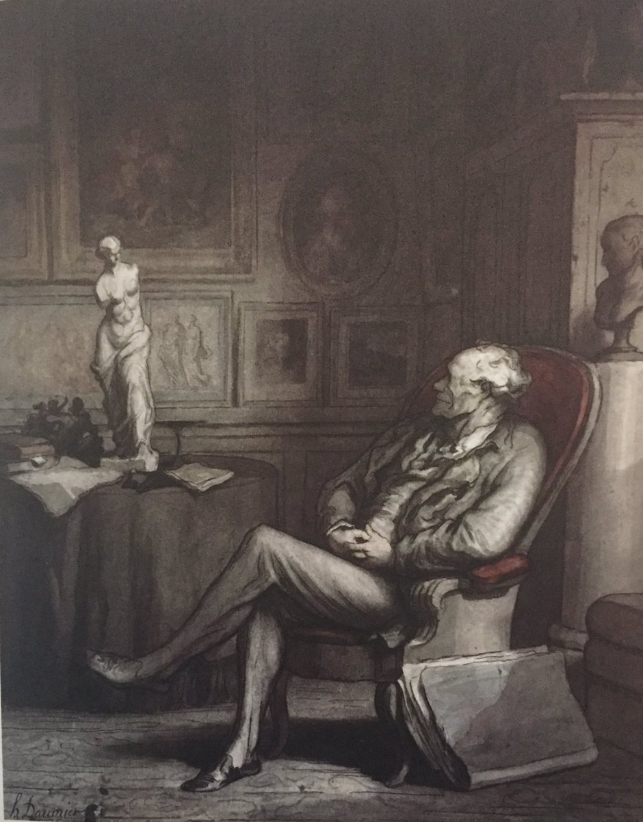 PAINTING OF THE DAY: THE CONNOISSEUR circa 1860s by Honore Daumier #HonoreDaumier #painting#sketch#artwork #drawing#French#1860s#famousartist#cartoonist <br>http://pic.twitter.com/aOJUtAWVoz