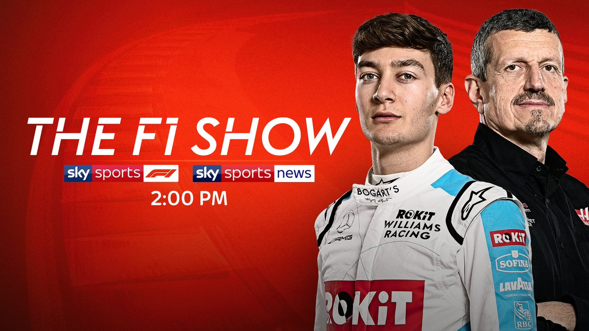 A jam packed episode of #TheF1Show for you today!  - @WilliamsRacing driver and #VirtualGP winner @GeorgeRussell63 ✅ - @HaasF1Team boss Guenther Steiner ✅ - @SilverstoneUK managing director Stuart Pringle ✅  📺 Sky Sports F1 | Sky Sports News | 2:00 PM  #SkyF1 | #F1 https://t.co/ygggdo3uuO