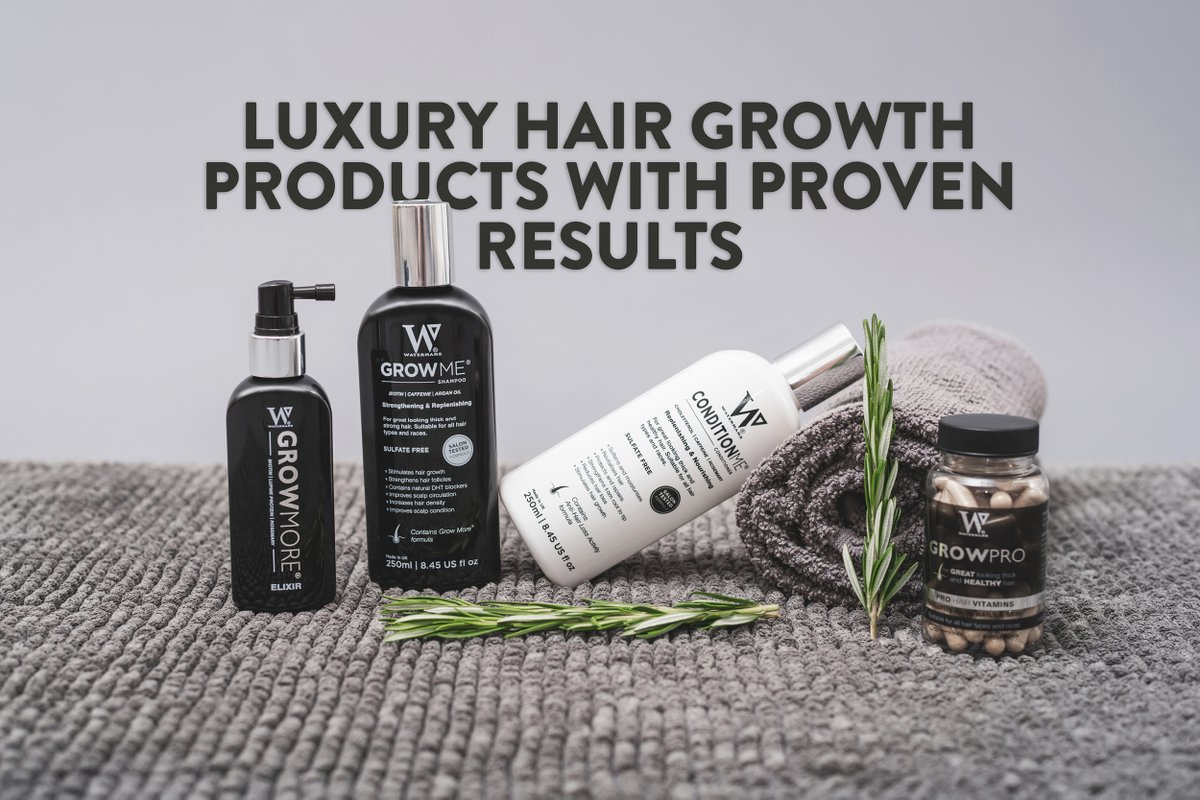 Luxury for your hair with Watermans    #Haircare #LuxuryProducts #InstaHair #LoveWatermans #HairGrowthProducts #hairstylist go to Brand #Watermans for #highend #hairproducts .pic.twitter.com/LDuVmI7P7Z