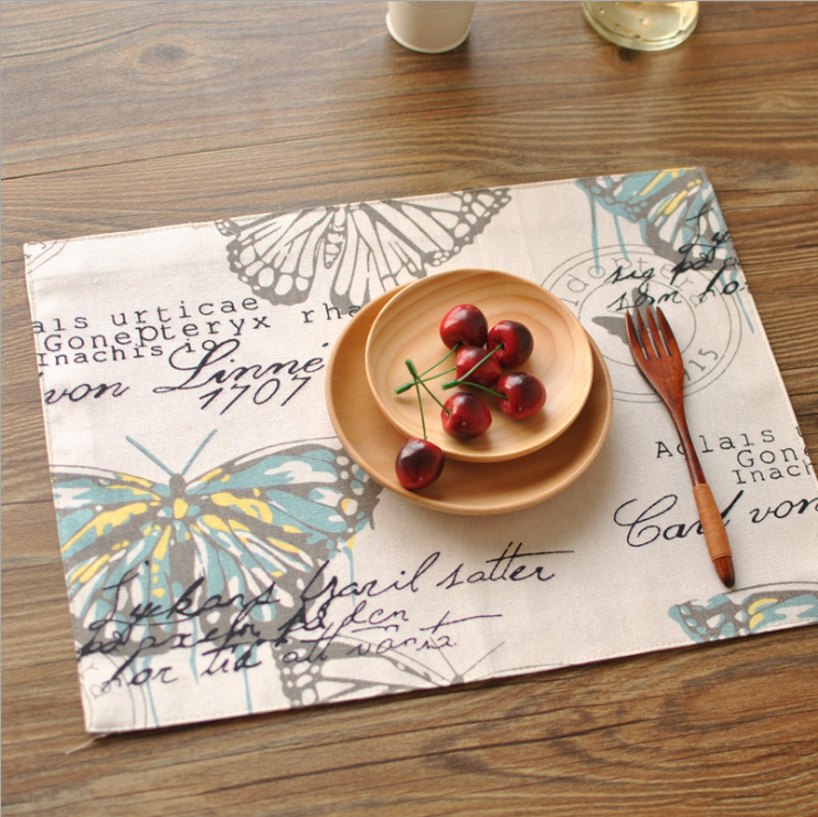 European and American style butterfly double layer thickened linen table placemat #table #placemat #kitchen pic.twitter.com/bXsbkUPzh5