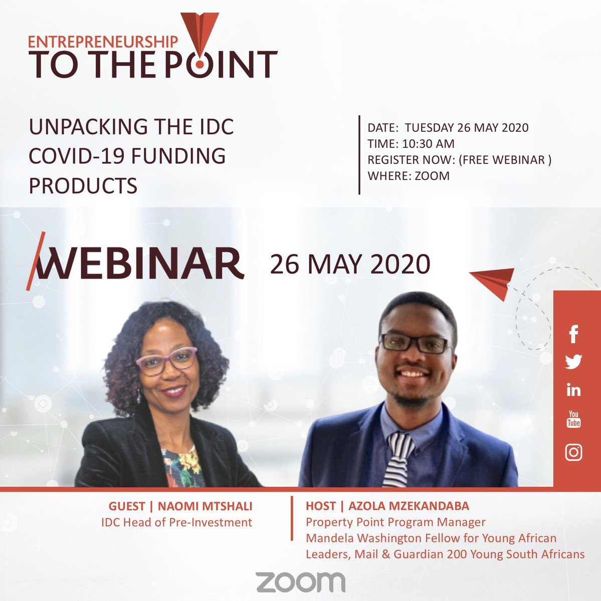 eTTP #INFORM Session with @IDCSouthAfrica   Are you interested to know what support the IDC has made available for entrepreneurs during COVID-19? https://t.co/WmwtKjIQEq