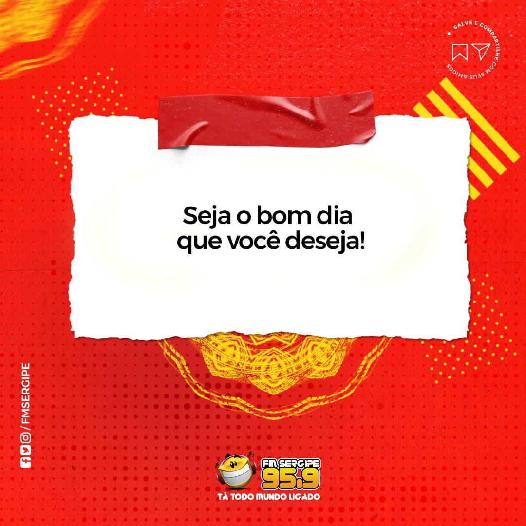 Uma ótima semana  ⠀⠀⠀⠀ Sintonize 95,9 _ #bomdia #happy #goodmorning #vivalavida #felicidade #behappy #fmsergipe #aracaju #sergipe #radio #primeirolugar #topper #tátodomundoligado #seguealíderpic.twitter.com/UczvTZXoO5