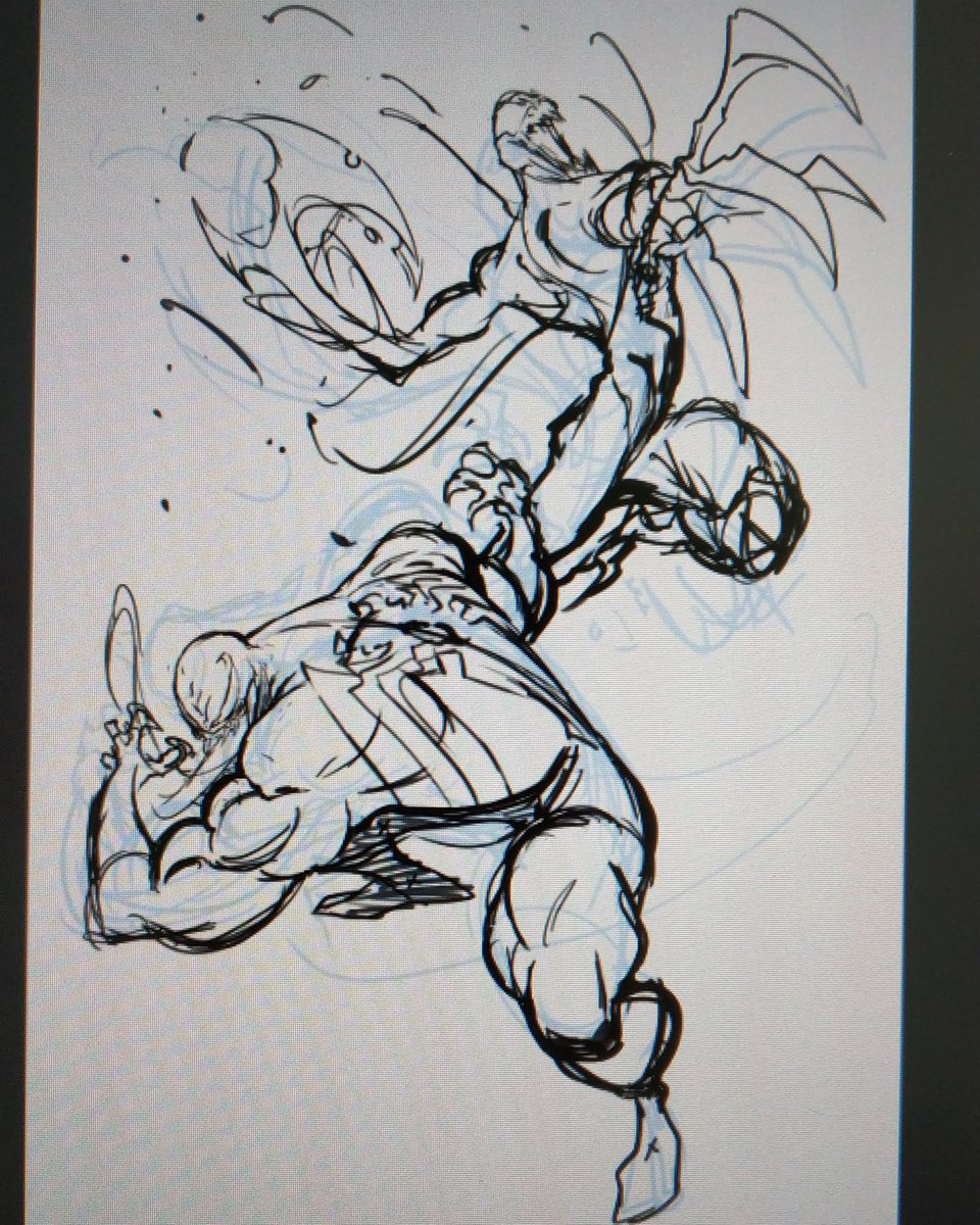 Warming up! I'm thinking to finish it in paper and make an auction for #creator4comics but I don't know if I'm TOO LATE . :S #venom #carnage #venom4comics #marvel #marvelcomics #marveluniverse #comic #art #picoftheday #pictureofthedaypic.twitter.com/xcLN8uYXSZ