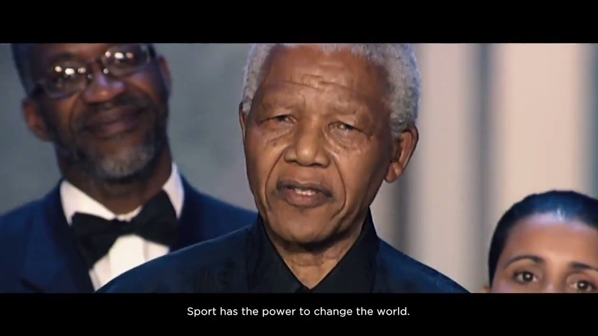 """""""Sport has the power to change the world.""""  These words are powerful. They inspired us. They moved us. They made us understand.  These words made a difference. They gave hope. These words gave us purpose.  A purpose that has lasted 20 years - we are Laureus.  #PowerOfSport https://t.co/voZ1LfcfSi"""