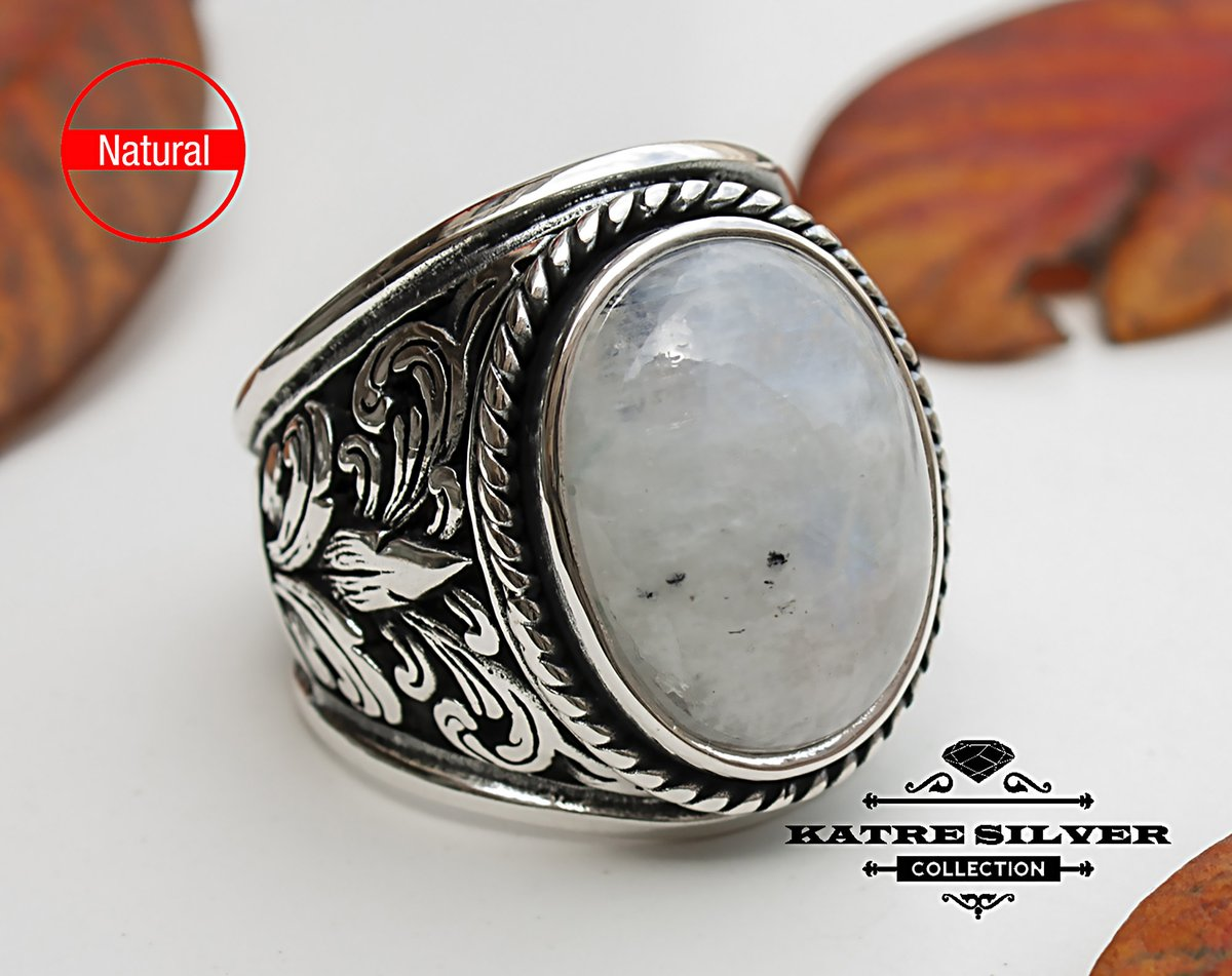 Excited to share the latest addition to my #etsy shop: Moonstone Mens Ring, Mens Handmade Ring, Turkish Handmade Silver Men Ring, Ottoman Mens Ring, Men Ring, Gift for Him, 925k Sterling Silver  #silver #oval #yes #moonstone #white #men #no #artd