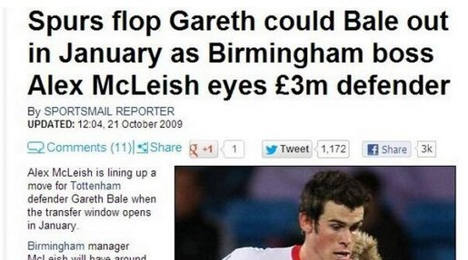 #OnThisDay in 2007 Spurs signed Gareth Bale. Moral of the story, never give up!