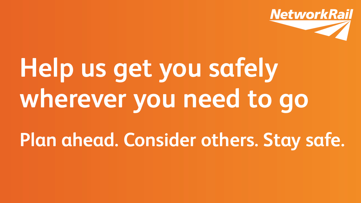 ℹ️ Only take the train if there's no other way to travel. 🚄❌ Keep a safe distance from others. ↔️ Help us keep the railway clear for those who need it most. ➡️ bit.ly/2ILd4pK #PlanAhead #ConsiderOthers #TravelSafely #COVID2019 @nationalrailenq