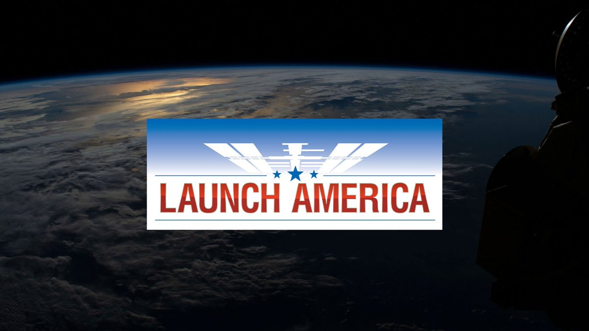 Wednesday, @NASA begins a new era of human spaceflight as American astronauts will once again launch on an American rocket from American soil to the International Space Station! To join in on the experience, visit: go.nasa.gov/2zMCsKz