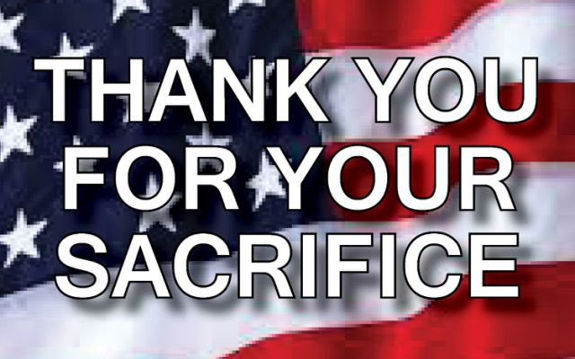 We can't say Thank You enough!! 🇺🇸 God Bless our troops!