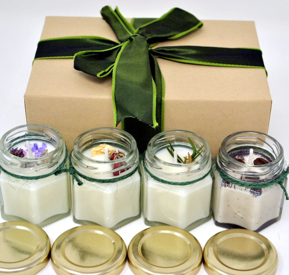 Excited to share the latest addition to my #etsy shop: Box Set of 4 Scented Soy Wax Candles. Lighten Your Mood. Vegan Jar Candles With Extra Essential Oil Thank You Gift Box Isolation Relaxation  #white #soy #bedroom #scentedcandles #soywaxcandle