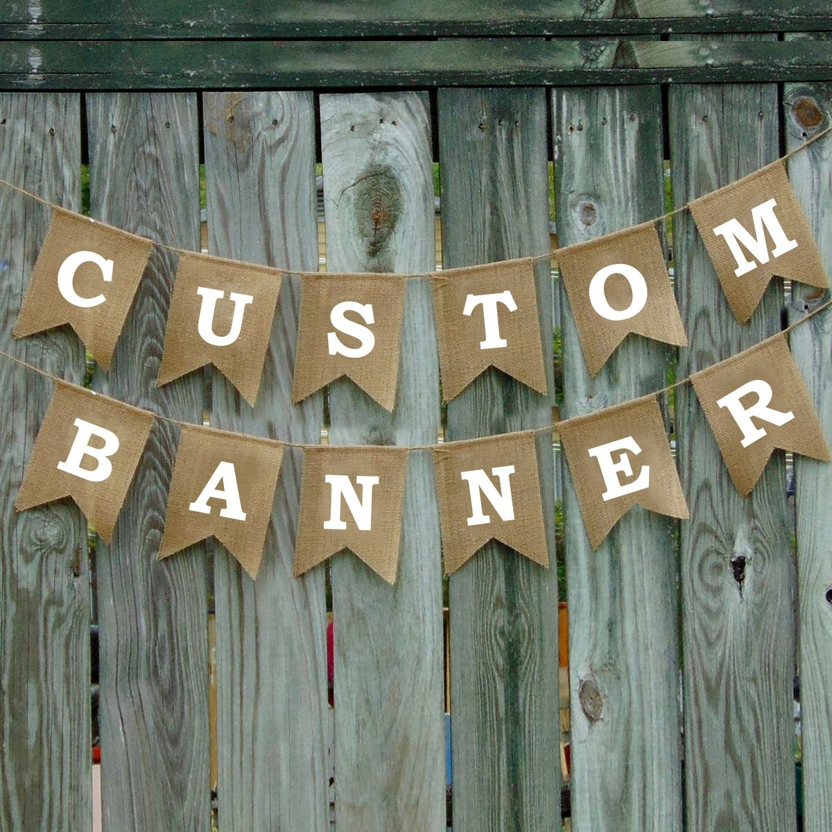 Excited to share the latest addition to my #etsy shop: Custom Burlap banner - Wedding Custom Banner - Personalized Banner - Birthday Burlap Banner - Design your own - Retirement Burlap Banner  #white #clear #personalizedbanner #burlappartybanner