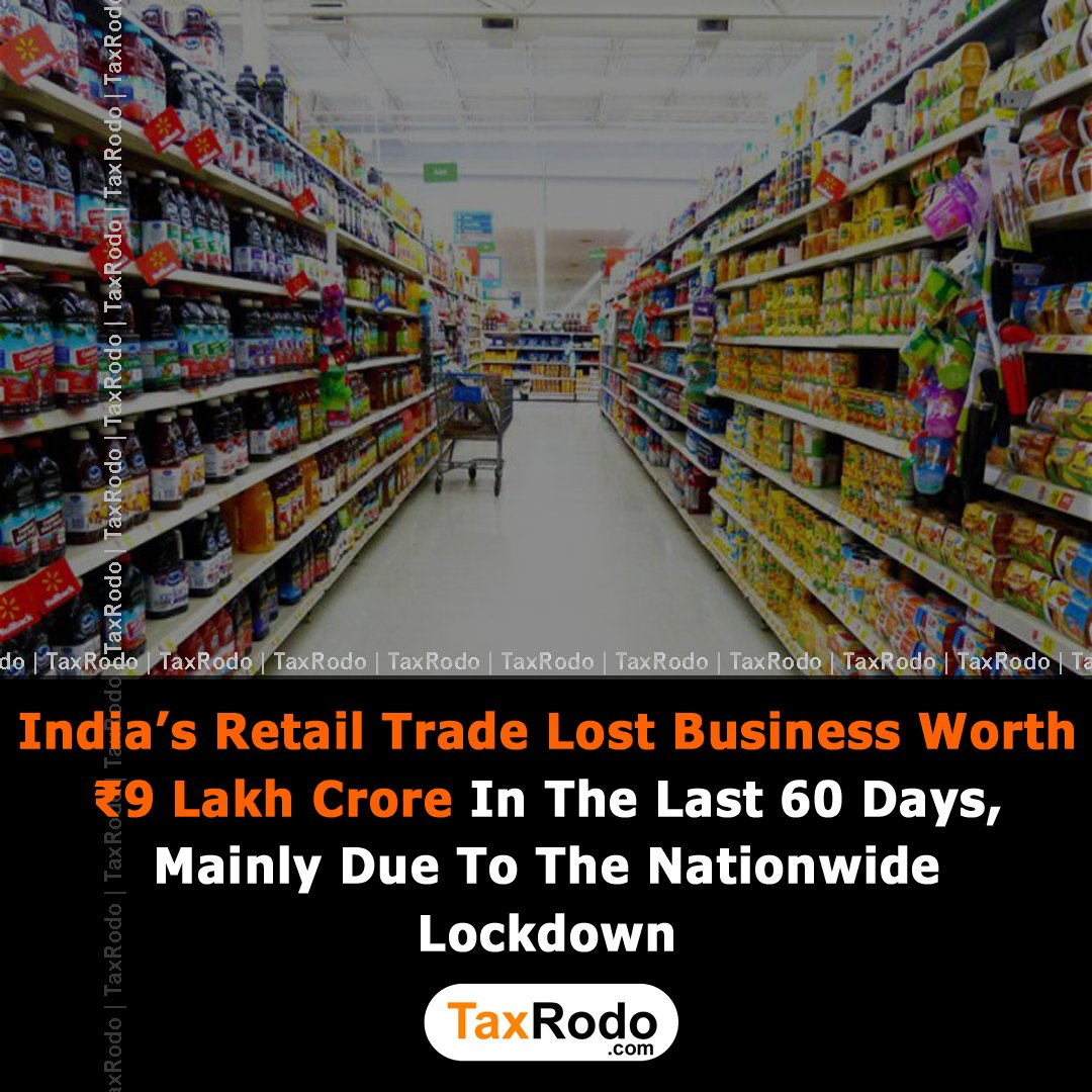 According to trader's body CAIT, India's retail trade lost business worth ₹9 lakh crore in the last 60 days, mainly due to the nationwide lockdown.  #business #startup #startupindia #india #ROC #fintech #NewsPicks #NEWS #FactsMatter #UPDATE #branding #retail #COVID19 #lockdown