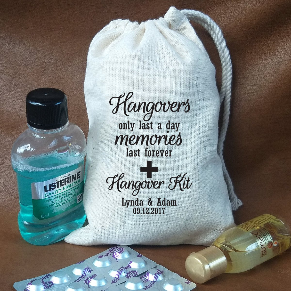 Excited to share the latest addition to my #etsy shop: Survival Kit Bags   Bachelorette Favor Bags Holiday Hangover Party Bags Wedding Welcome Recovery Muslin Goodie Gift Bag Groomsmen Bachelor  #white #black #welcomebags #recoverykit #hangoverpa