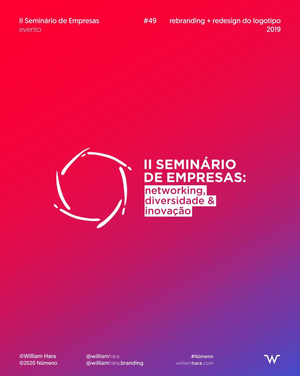 4⃣9⃣ ♦ 2019 — rebranding + redesign do logotipo @ II Seminário de Empresas com @GrupoDignidade @HendersonMr e @AliancaLGBTI  🟦 Veja mais logos no Portfolio: 👉  👈  #identidadevisual #design #branding #logotipo #marca #designgrafico #logo #behance