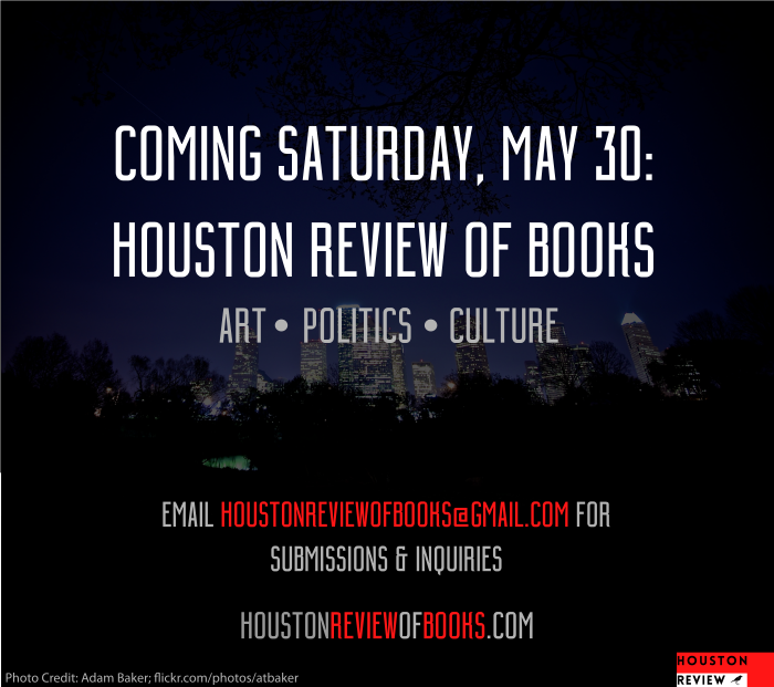 We will be launching on Saturday, May 30th! The editors have been hard at work preparing the many submissions we've already received and we look forward to publishing much more in the near-future #Houston pic.twitter.com/WZ6crJ79u0