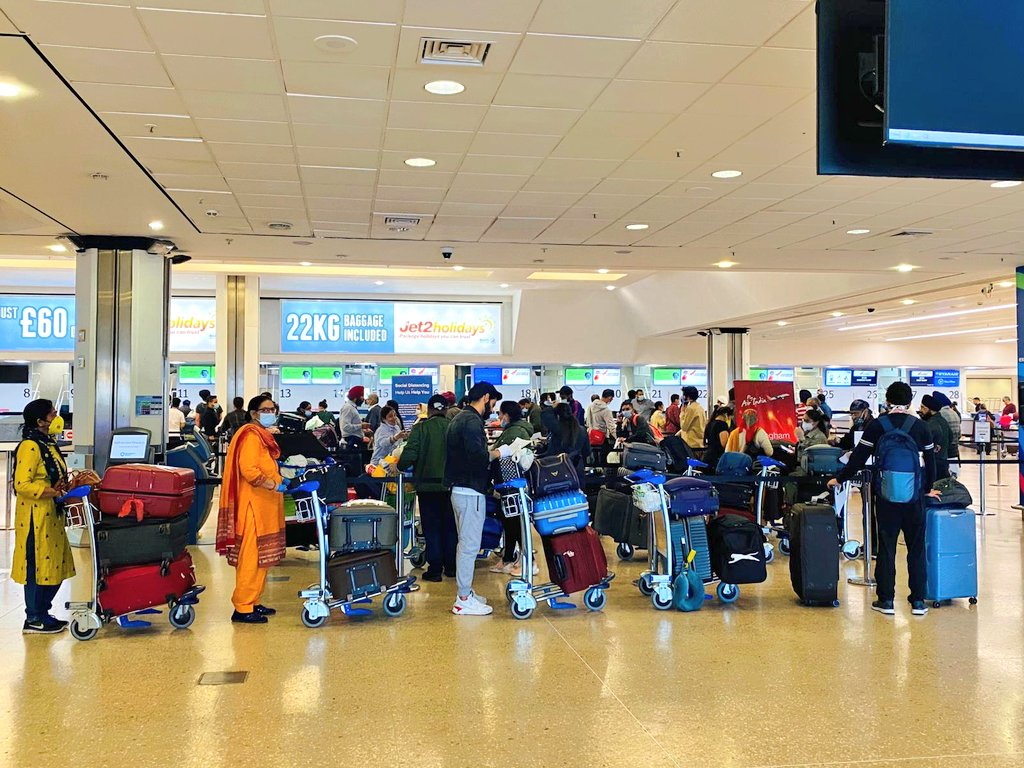 Preparations underway for repatriation flight for #Amritsar from #Birmingham. The Consulate General of India wishes Shubh Yatra to all the passengers 🙏 Thank you @airindiain #VandeBharatMission @DrSJaishankar @HardeepSPuri @MEAIndia @PMOIndia @RuchiGhanashyam @IndiaInScotland