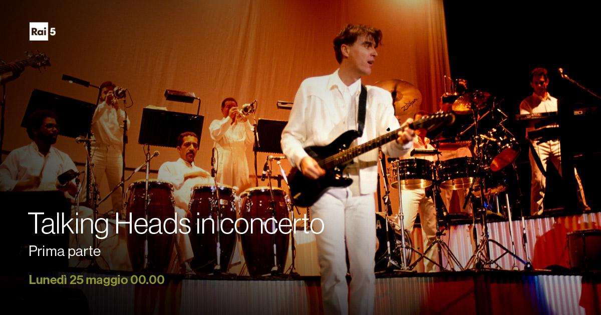 Una pregiata perla delle Teche Rai: il live dei #TalkingHeads ripreso al Palaeur di Roma nel 1980, all'indomani dell'uscita di Remain in Light. La prima parte va in onda lunedì 25 maggio alle 00.00 su #Rai5pic.twitter.com/SguNSBry1m