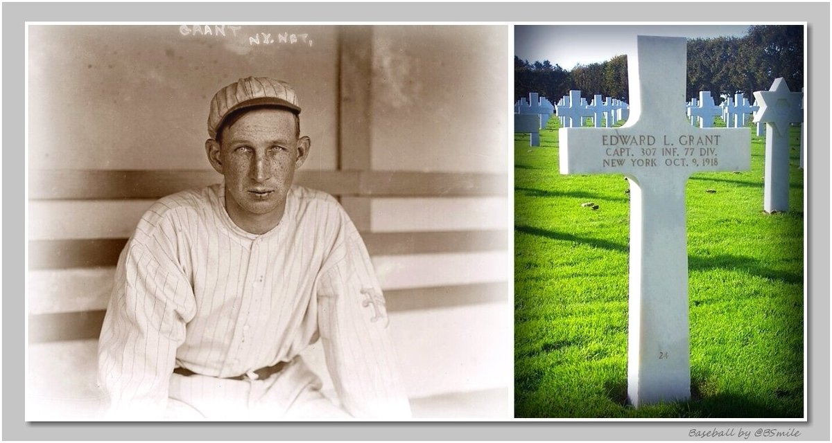 On Memorial Day we remember those who made the ultimate sacrifice, including Capt. Edward L. Grant, the first major league player to die in combat during WWI. #MLB #Baseball #MemorialDay https://t.co/idu2czHlxR