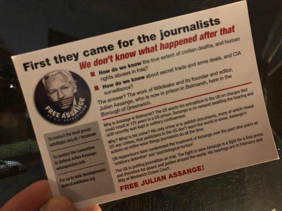 When the world is fuller than normal with corrupt, dishonest & incompetent politicians, a truth-teller rots in HMP Belmarsh awaiting transport to a US gulag. UK/US/Oz govts must end this madness. What are they hiding? #auspol #FreeAssange #amnestyinternational #Whistleblower <br>http://pic.twitter.com/98LMv9XVAY