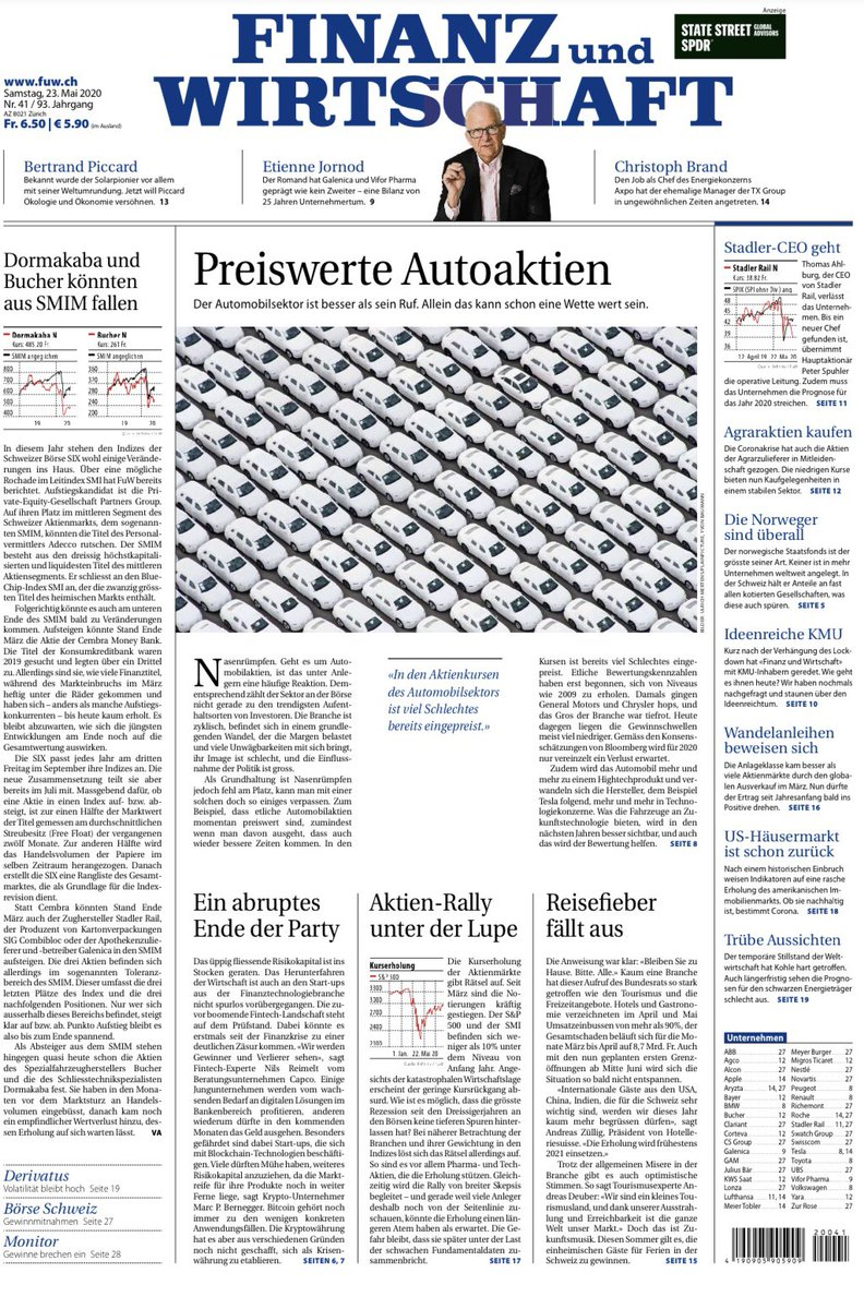 FinTechs: Arisen from the last crisis, now facing their own? Front page story and extensive coverage by @PMeisser at @FuW_News (in German) fuw.ch/article/der-gr… #fintech #finance20 #digitalbanking
