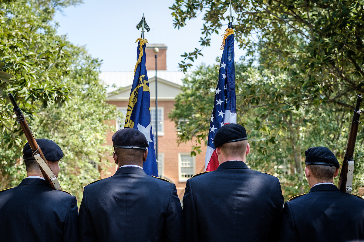 On #MemorialDay, Wake Forest honors American military members who made the ultimate sacrifice for our country. We celebrate their courage and #ProHumanitate spirit, and we are grateful every day for the freedom they helped protect. 🇺🇸