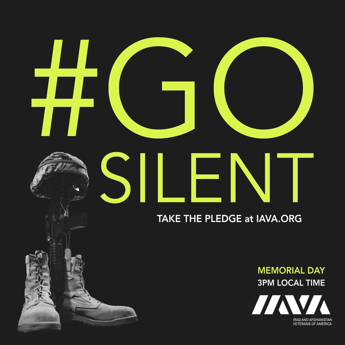 On this Memorial Day I pledge to #GoSilent https://t.co/8jQF7ZkUq1