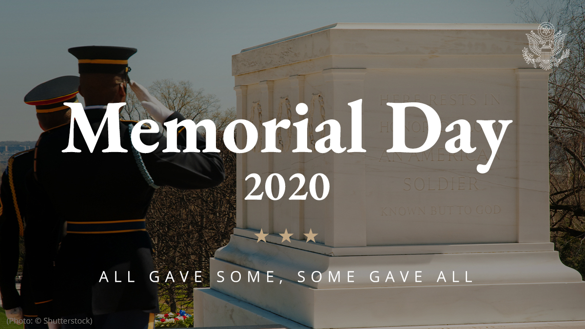 On this #MemorialDay, we pause to remember the lives of all those brave Americans who made the ultimate sacrifice in service to our great nation. Susan and I pray for all those families still mourning their loved ones. They will never be forgotten.