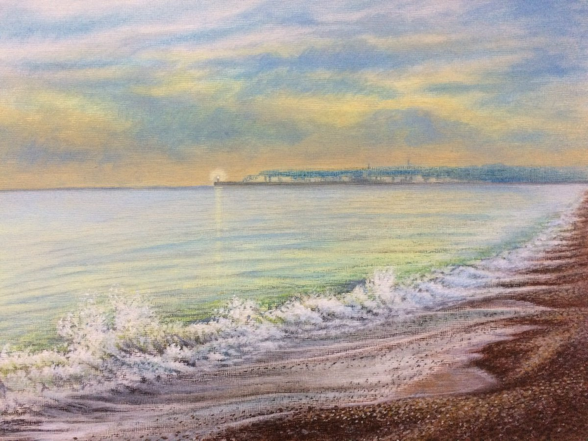 Breaking surf - Seaford Pastel  #movemay #beach #PASTELSKETCH #ArtistOnTwitter #artists #artistsoninstagrampic.twitter.com/SCmO4Jdf7G