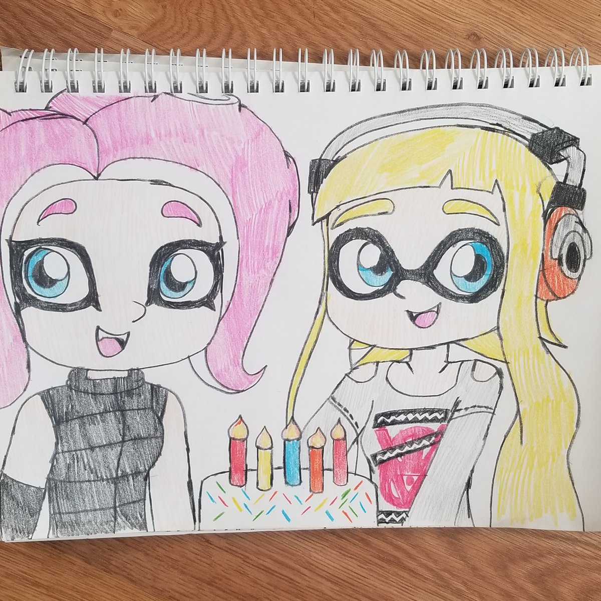 Happy birthday to my very great friend, Joseph Day (@Scamper52596)! 😃🎂 Here is a new b-day gift drawing I made of both of his OCs, Cephanie and Shellsea and I really hope you like it. 🙂