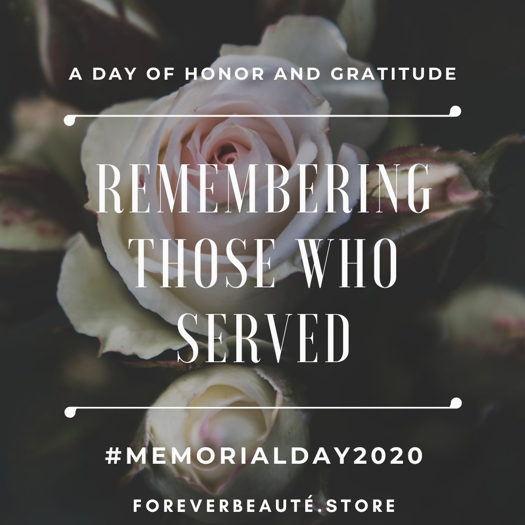 ✨Happy Memorial Day ✨ Remembering those who served shop forever Beauté and save 20 % today !   #ForeverBeaute  #smallbusiness #makeupaddict #lashesonfleek #hairextensions #fashion #latesttrends  #bosschick #bosschickshit #MemorialDay2020 #MemorialDaySale