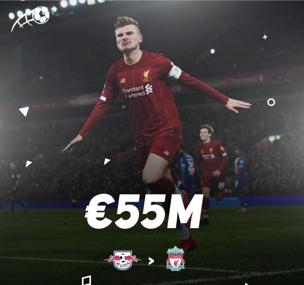 Liverpool seems to have the best papers in the fight for Timo Werner!  The amount will be between 55 & 60 million euros. #rumour #transfer pic.twitter.com/1OG2lAxGRo