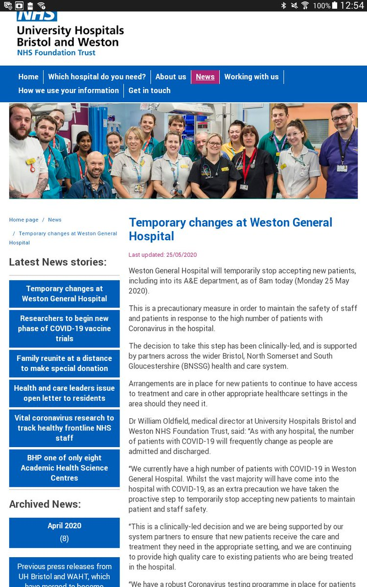 How about reporting that Weston General Hospital closed due to an influx of #covid19 patients? pic.twitter.com/hN7UoatPEU