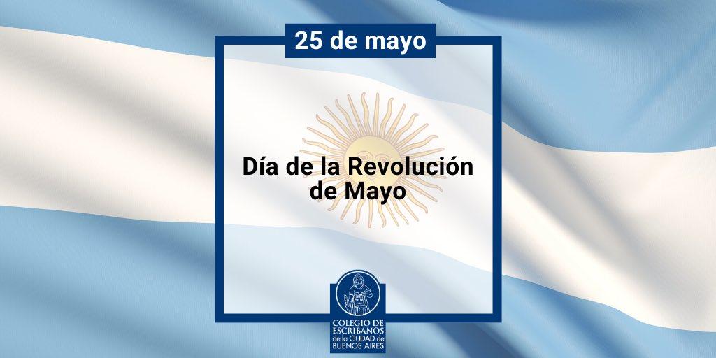 ¡Feliz día de la Patria!  #argentina #bsas #25DeMayopic.twitter.com/kx304KrJZX
