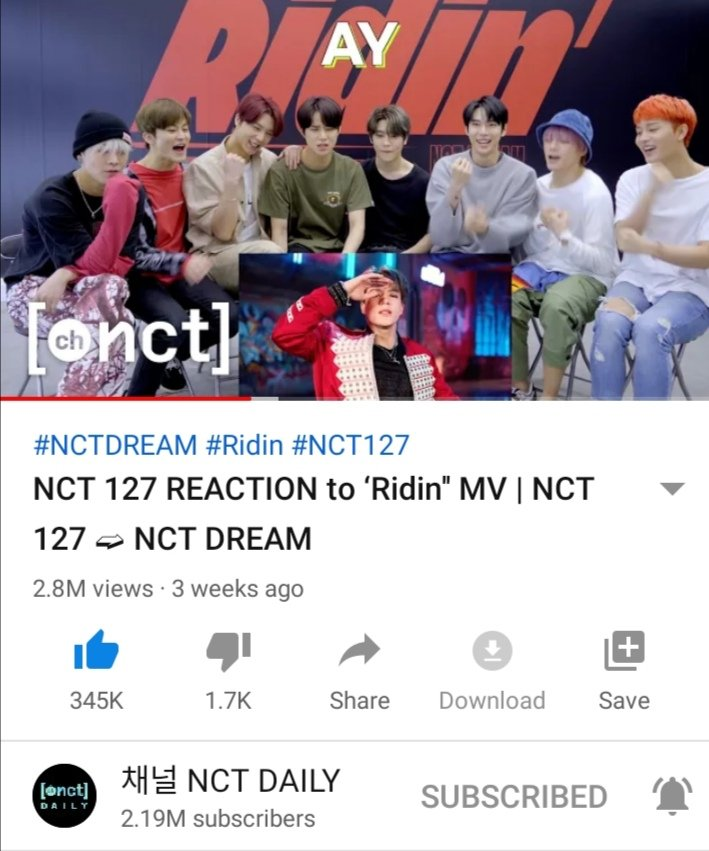 nct 127                            nct dream                reacting to each                     other mvs<br>http://pic.twitter.com/4HRNzOh5dv