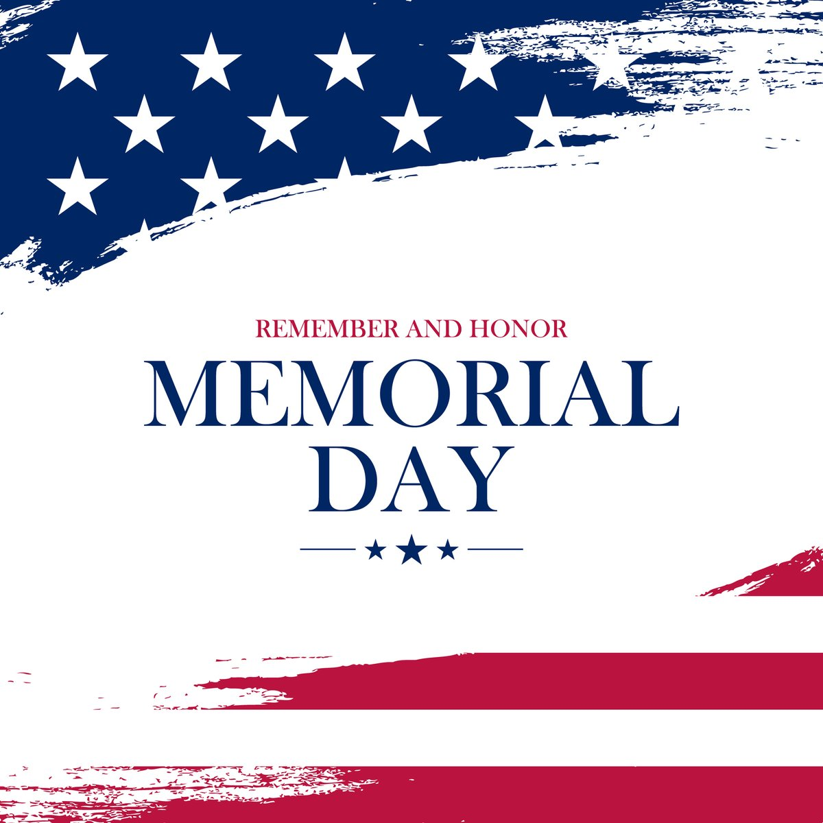 Let us remember and honor those who sacrificed their lives for the peace and security of our country.