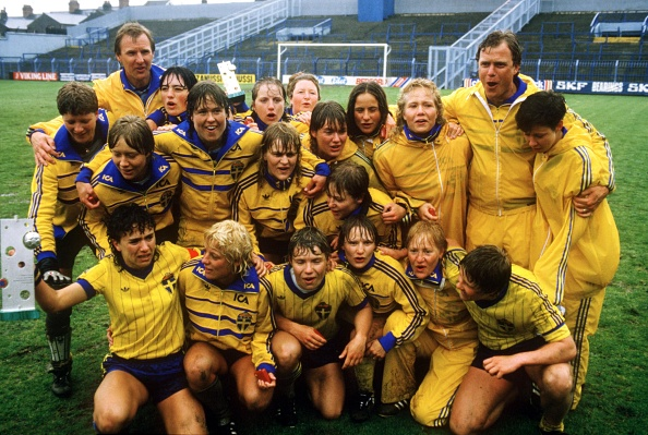 On this day in 1984 ... history was made🗓 Pia Sundhages winning kick meant @svenskfotboll🇸🇪 beat @Lionesses🏴 on penalties in Luton to clinch the first @UEFA womens title🏆