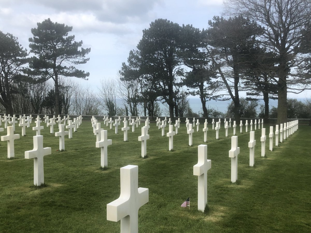 The American Cemetery at Colleville-sur-Mer Normandy. #MemorialDay